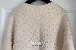 12a Paris-bombay Runway Chanel Cream Cashmere Gripoix Sweater Top 46