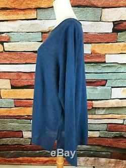 $178 Nwt Eileen Fisher Denim Blue Linen Knit Long Sleeve Top 3x