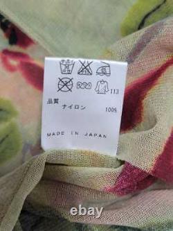 1993ss jean paul gaultier FLOWER BOTANICAL MESH SHIRT TOP size 48 rare