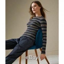 2018 Brunello Cucinelli Striped Metallic Top long sleeve Size S