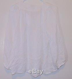 $288 Joie Long Sleeve Lace Up Flowy 100% Silk PACAYA Blouse Top Sz S (649)