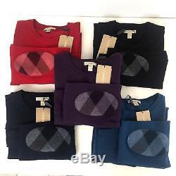 $295 NWT Burberry Brit Men's Drewett Long Sleeve Merino Wool Sweater Top