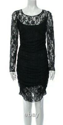 $3,345 NWT DOLCE & GABBANA 2018 Black Lace Midi Dress Top 40 42 44 4 6 8 S M D G