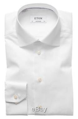$547 ETON Mens CONTEMPORARY FIT WHITE LONG-SLEEVE BUTTON TOP DRESS SHIRT 16 / 41