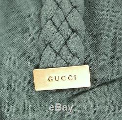 $695 NEW Authentic Gucci Long Sleeve Top Blouse withBraided Belt, sz M, 304545