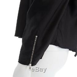 ACNE STUDIOS SS13 Ava Fluid black pleated voluminous long sleeve top FR34 XS