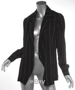 ANINE BING Isabella Black Striped Long Sleeve Blouse Blazer Jacket Top S NEW