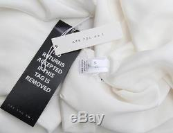 ARE YOU AM I Womens White Long Sleeve Tie ALESSIA Crop Top Blouse M NEW $289