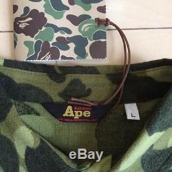 e76124a1d931 A Bathing Ape Bape Men s Tops Camouflage Long-sleeved Shirt Size L