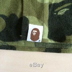 A BATHING APE BAPE Men's Tops Camouflage Long-Sleeved Shirt Size L