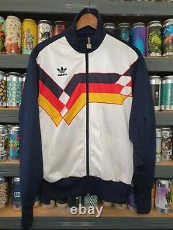 Adidas Germany 1990 Mens Medium Tracksuit Jacket Track Top Vintage Rare Retro
