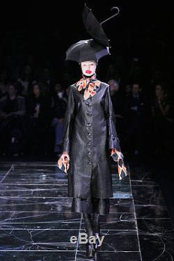 Alexander McQueen 2009 Runway arlequin bow shirt 44 top blouse longsleeve print