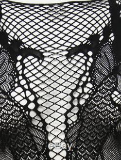 Alexander McQueen Pattern Lace Long Sleeve Top XS