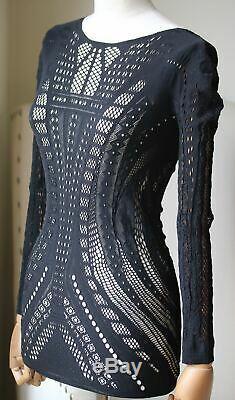 Alexander Mcqueen Mesh Cutout Long Sleeve Top Small