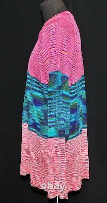 Amazing Missoni 100% Rayon Long Sleeve T Shirt Sweater Top Size XL