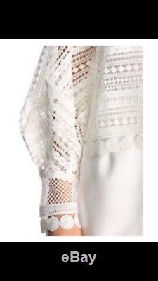 Asilio Girl Almighty Lace Top White Size XS /6 Long Sleeve NWOT