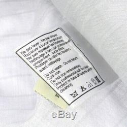 Auth CHANEL Vintage CC Logos Long Sleeve Tops Stripe Shirt Cotton #40 AK32266