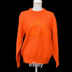 Auth Christian Dior SPORTS Vintage Long Sleeve Tops Sweater Orange #L AK27817