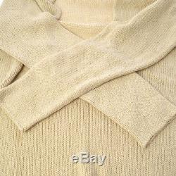 Auth HERMES by MARGIELA Vintage Long Sleeve Tops Knit Sweater Beige #S Y02125