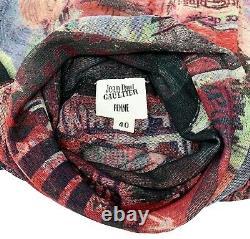 Auth Jean Paul GAULTIER Vintage Logo Tops Mesh Shirt Power Net #40 Black RankAB