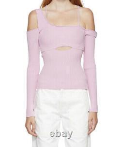 Authentic BNWT Jacquemus La Maille Figuerolles Pink Knit Top Size 42 / 14