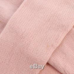 Authentic CHANEL Vintage CC Camellia Logos Long Sleeve Tops Pink #36 GS01278e