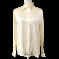 Authentic CHANEL Vintage CC Logos Long Sleeve Tops Shirt Ivory #40 AK25011