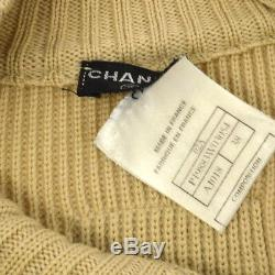 Authentic CHANEL Vintage CC Logos Sports Line Long Sleeve Tops Beige #38 Y03114i