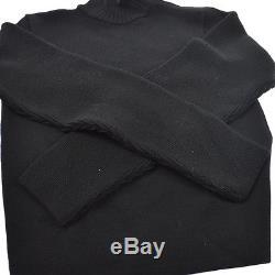 Authentic CHANEL Vintage CC Logos Sports Line Long Sleeve Tops Black AK19989