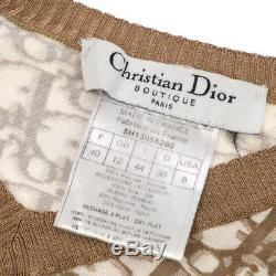 Authentic Christian Dior Vintage Logos Long Sleeve Shirt Tops Brown Y03464