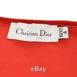 Authentic Christian Dior Vintage Logos Long Sleeve Shirt Tops Red AK25480