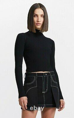 Authentic Dion Lee Twist Back LS Top in Black. Available in AU 6, 8, 10