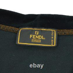 Authentic FENDI Vintage Logos Long Sleeve Tops Black Italy AK25654k