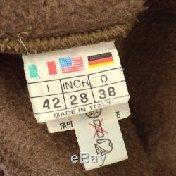 Authentic FENDI Vintage Logos Long Sleeve Tops Brown Polyester Italy Y02071c