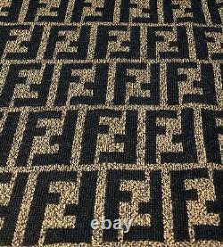 Authentic FENDI Vintage Zucca Logo Sweaters Tops #40 Wool Brown Black Rank AB