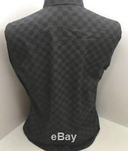 Authentic Mint Louis Vuitton Damier Graphite Long Sleeve Shirt LV Top