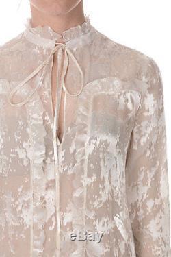BALENCIAGA New Woman Long sleeve Silk Blend top made in Italy NWT