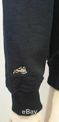 BELLA FREUD Black 100% Cotton Embroidered Long Sleeve Sweater Sweatshirt Top M