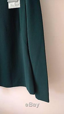 BNWT ALEXANDER MCQUEEN Bottle Green Long Sleeve Top IT40 UK8 XS/S
