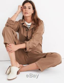 BNWT NEW MADEWELL shop As Ever Long Sleeve Coveralls Jumpsuit top Sz LARGE