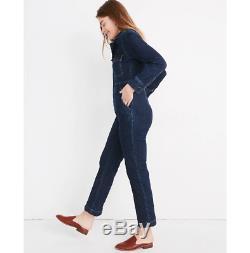 BNWT NEW MADEWELL shop Long Sleeve Slim Denim Coveralls Jumpsuit top Sz 10