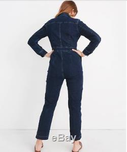 BNWT NEW MADEWELL shop Long Sleeve Slim Denim Coveralls Jumpsuit top Sz 6