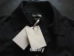 BNWT RRP £590 TOM FORD wool long sleeve polo top sweater size 50, uk/usa 40 or L