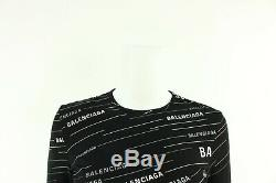 Balenciaga Women's Black Logo Long Sleeved Top T Shirt Size S