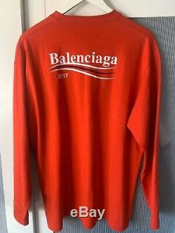 Balenciaga men long sleeve tshirt top sizes in photos by tape 100% authentic
