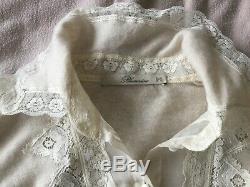 Blumarine ladies size 40 cashmere silk ivory cream lace long sleeve top jumper
