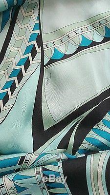 Bnwt EMILIO PUCCI patterned long sleeve silk dress. Top/tunic. Uk 10/42. £1095