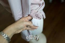Brunello Cucinelli Silk striped top Blouse monili long sleeve pink size S