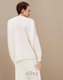 Brunello Cucinelli Sweater top long sleeve lightweight Monili Trim Size xs