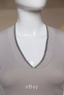 Brunello Cucinelli long sleeve top shirt with monili trim M